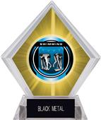 "2"" Legacy Swimming Yellow Diamond Ice Trophy"