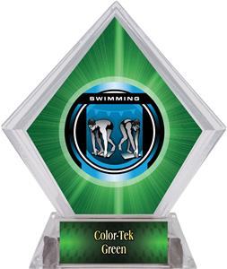 Awards Legacy Swimming Green Diamond Ice Trophy