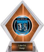Awards Legacy Swimming Orange Diamond Ice Trophy