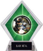 Hasty Awards Green Diamond Lacrosse Ice Trophy