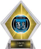 Awards Legacy Swimming Yellow Diamond Ice Trophy
