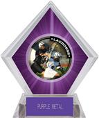 Hasty Awards Purple Diamond Lacrosse Ice Trophy