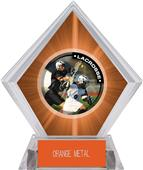 Hasty Awards Orange Diamond Lacrosse Ice Trophy