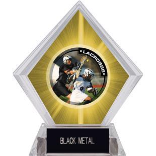 Hasty Awards Yellow Diamond Lacrosse Ice Trophy