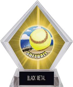 HD Softball Yellow Diamond Ice Trophy