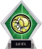 Awards Bust-Out Softball Green Diamond Ice Trophy