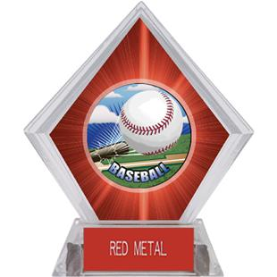 HD Baseball Red Diamond Ice Trophy