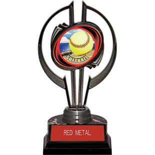 "Awards Black Hurricane 7"" HD Softball Trophy"
