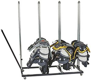 Kelpro Rolling Football Shoulder Pad Racks
