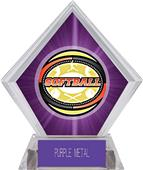 Awards Classic Softball Purple Diamond Ice Trophy