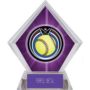 Awards Eclipse Softball Purple Diamond Ice Trophy