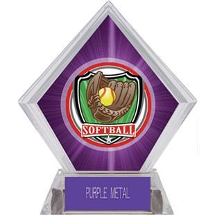 Awards Shield Softball Purple Diamond Ice Trophy