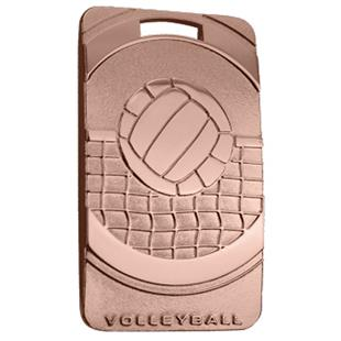 """Hasty Awards Volleyball 3"""" Legacy Medals"""