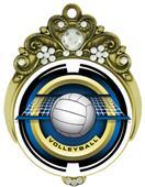 "Hasty Awards Tiara 3"" Volleyball Saturn Medals"
