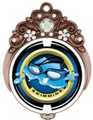 "Hasty 3"" Tiara Medal 2"" Saturn Swimming Mylar"
