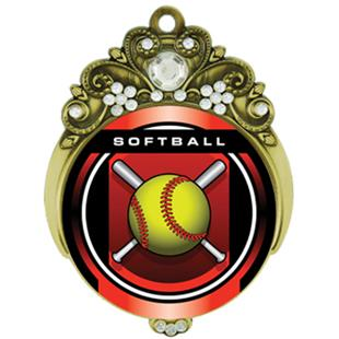 "Hasty 3"" Tiara Medal 2"" Legacy Softball Mylar"