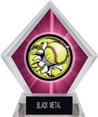 Awards Bust-Out Softball Pink Diamond Ice Trophy