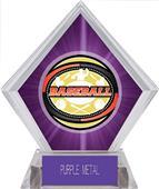 Awards Classic Baseball Purple Diamond Ice Trophy