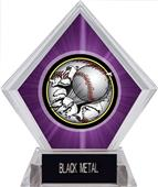 Awards Bust-Out Baseball Purple Diamond Ice Trophy
