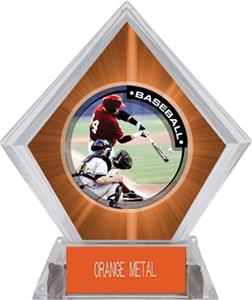 Awards P.R.1 Baseball Orange Diamond Ice Trophy