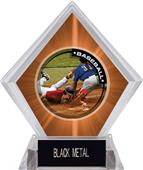 Awards P.R.2 Baseball Orange Diamond Ice Trophy