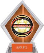 Awards Classic Baseball Orange Diamond Ice Trophy