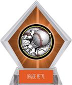 Awards Bust-Out Baseball Orange Diamond Ice Trophy