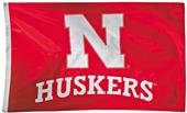 Collegiate Nebraska 2-Sided Nylon 3'x5' Flag