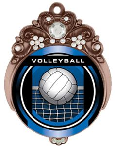 "Hasty 3"" Tiara Medal 2"" Legacy Volleyball Mylar"