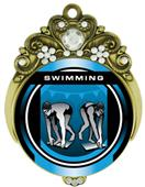 "Hasty 3"" Tiara Medal 2"" Legacy Swimming Mylar"