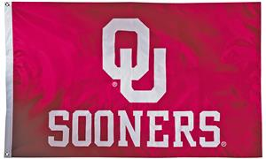 Collegiate Oklahoma 2-Sided Nylon 3'x5' Flag