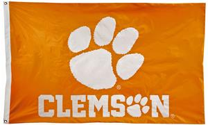 Collegiate Clemson 2-Sided Nylon 3'x5' Flag