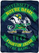 Northwest Notre Dame Rebel Raschel Throw