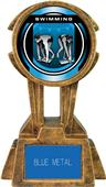 "Hasty Awards 10"" Sky Tower Resin Swimming Trophy"