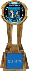 "Hasty Awards 14"" Sky Tower Resin Swimming Trophy"
