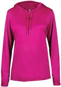 Badger Ladies' B-Core Long Sleeve Hood Tee