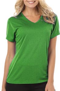 Blue Generation Womens Heathered V-Neck Tee