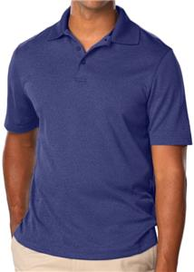 Blue Generation Men's Heathered Polo