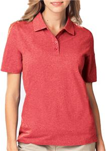 Blue Generation Ladies Heathered Polo