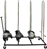Rolling Football Shoulder Pad Rack