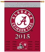 Collegiate Alabama Champ Years 2Sided 28x40 Banner