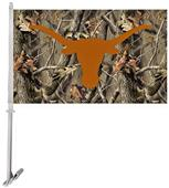 Collegiate Texas Realtree Camo 3' x 5' Car Flag