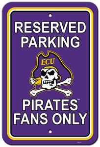 Collegiate East Carolina Plastic Parking Sign