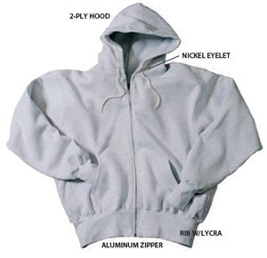 12 oz. Super Heavyweight Zippered Fleece Hoodie