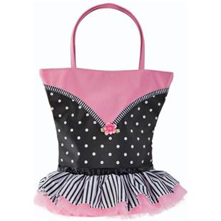 Sassi Designs Tutu Cute Dots and Stripes Tote