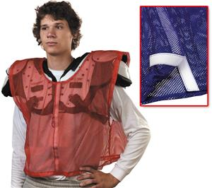 Football Velcro Front-Opening Scrimmage Vests
