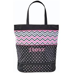 Sassi Designs Chevron Med Tote w/ Shoe Compartment