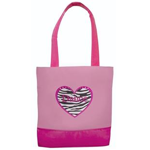 Sassi Designs Zebra Heart Dance Tote