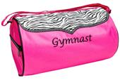 Sassi Designs Gymnast Zebra Duffel Bag
