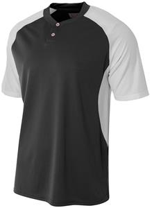 A4 2-Button Henley w/Contrast Stretch Mesh Jerseys